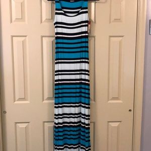 striped, never worn, maxi dress
